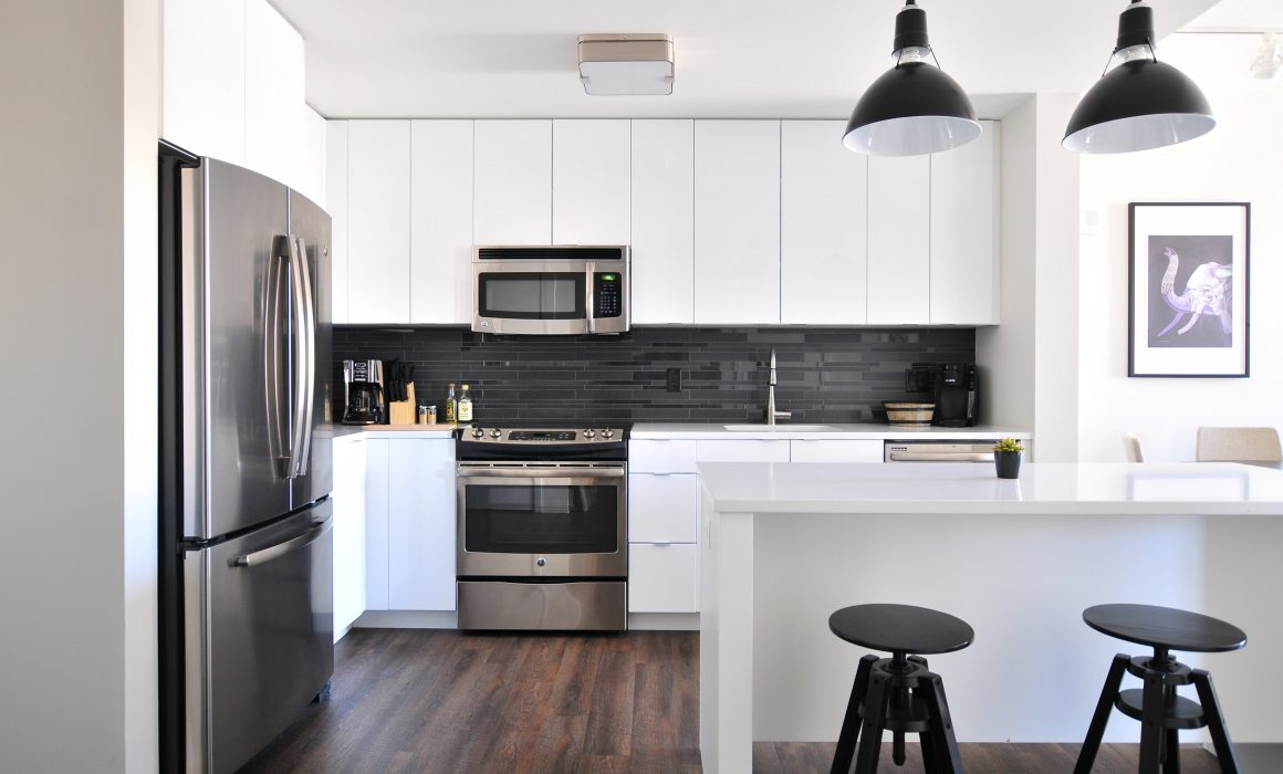 A remodeled kitchen in Jersey City